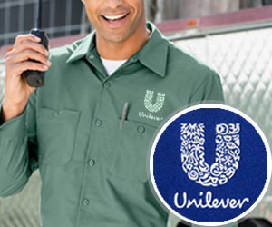 Embroided uniform work shirt