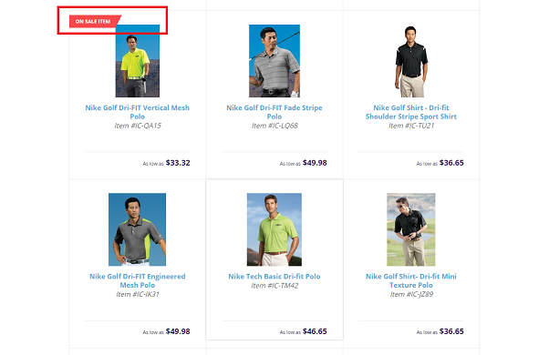 On Sale Golf Shirt Highlighted